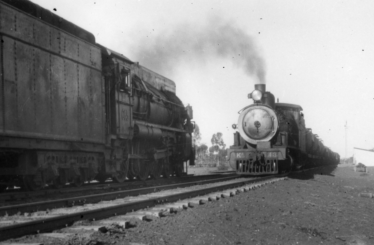 11887 - CR Locos KA43 and C65 crossing at an unknown location (NRM General Print Collection)